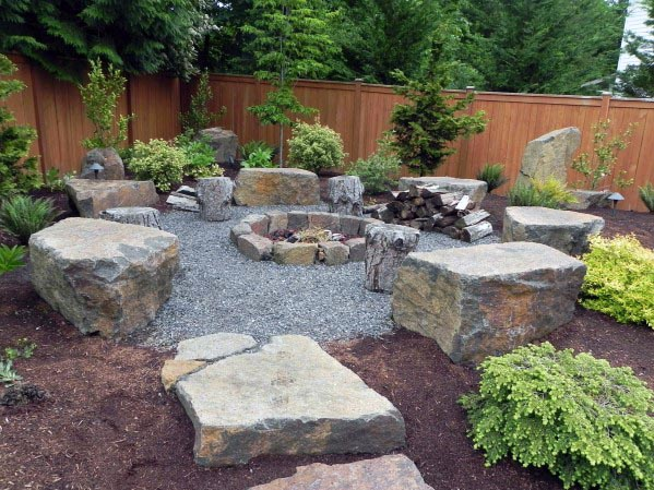 Home Fire Pit Seating Ideas