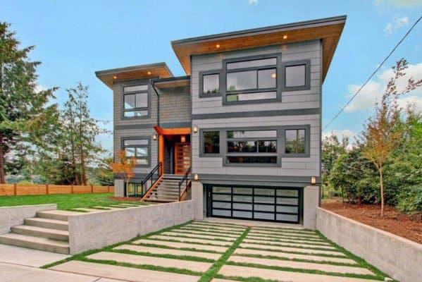 Home Front Yard Designs Concrete Driveway