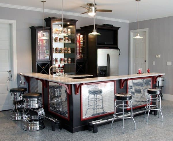Home Garage Bar Design
