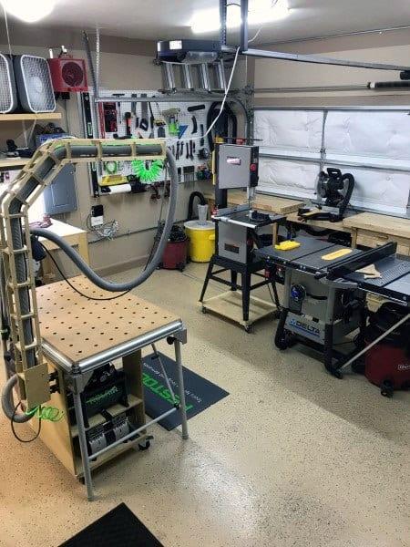 Home Garage Layout Workshop Ideas