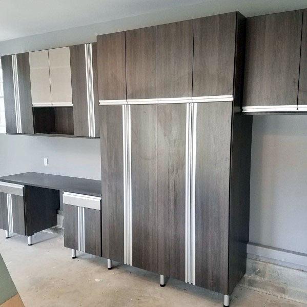 Home Garage Wood Cabinet Design Ideas