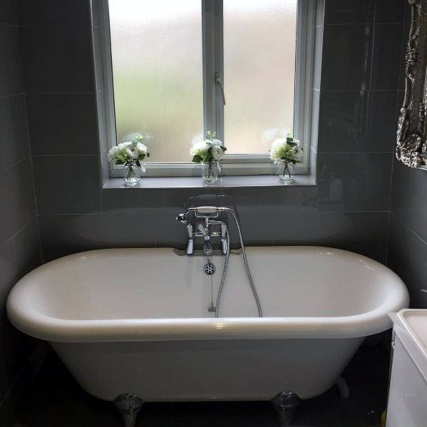 Home Grey Bathroom Tile Ideas