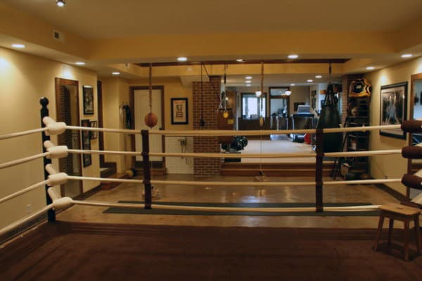 Home Gym Basement Boxing Ring