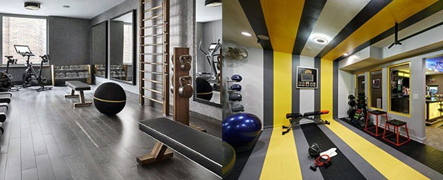Top best home gym floor ideas fitness room flooring designs