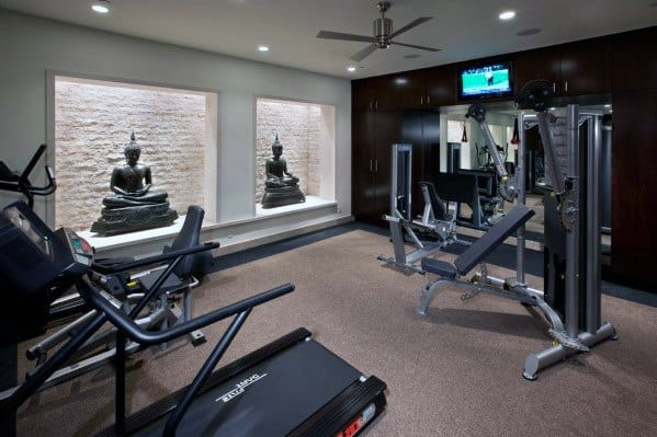 Home Gym Floorings Interior Ideas