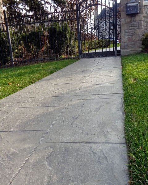 Home Ideas Concrete Walkway