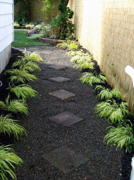 Home Ideas Dark Grey Gravel Walkway