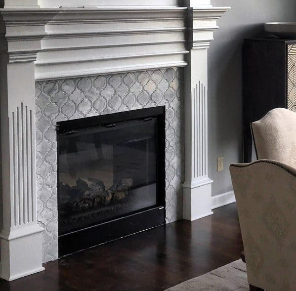 Home Ideas Fireplace Pattern Tiles