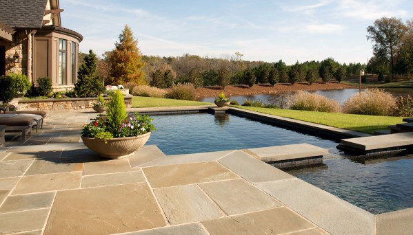 Home Ideas Flagstone Patio Pool