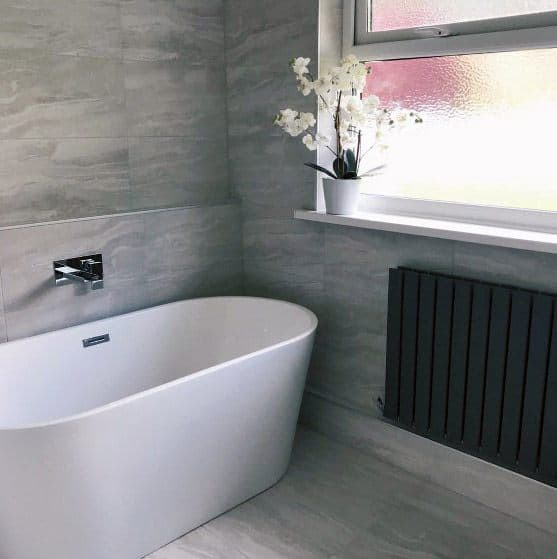 Home Ideas Grey Bathroom Tile