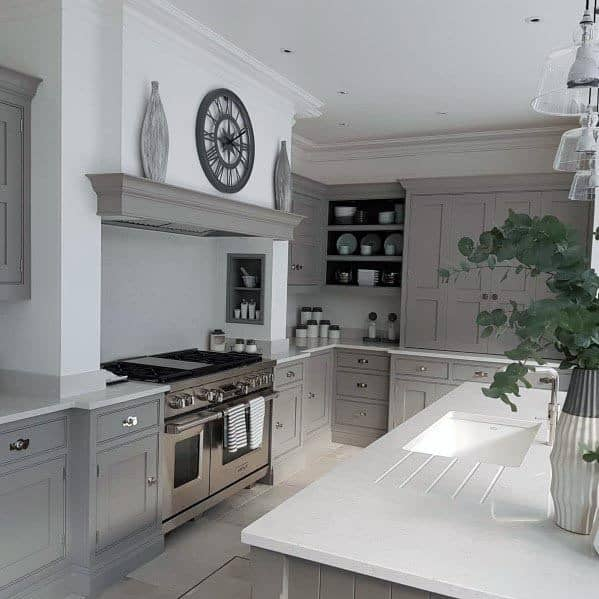 Home Ideas Grey Kitchens