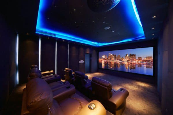 Home Ideas Home Theater Lighting Blue Led Ceiling