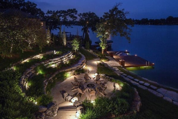 Home Ideas Landscape Lighting Backyard