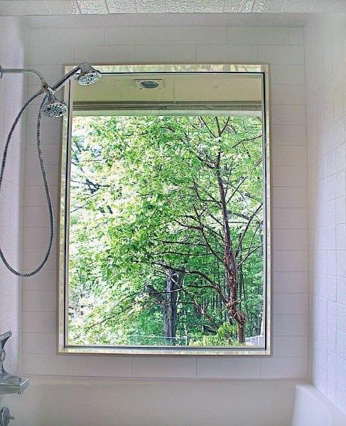 Home Ideas Large Shower Window