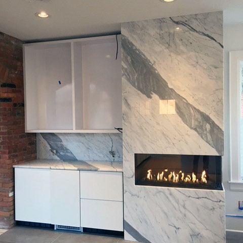 Home Ideas Linear Fireplace