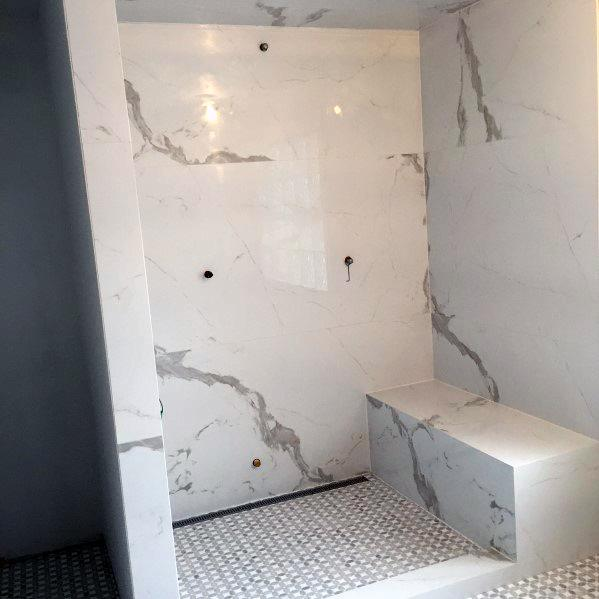 Home Ideas Marble Architectural Modern Shower Benchs