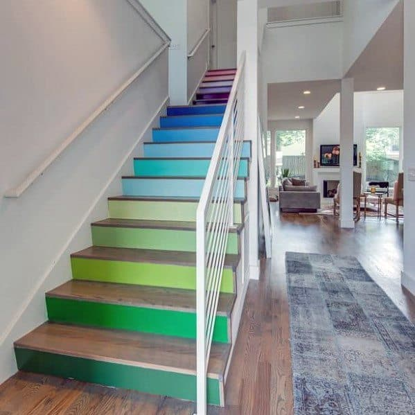 Home Ideas Painted Stairs Multi Color
