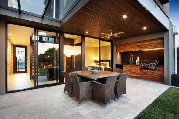 Home Ideas Patio Ceiling Modern Wood Look