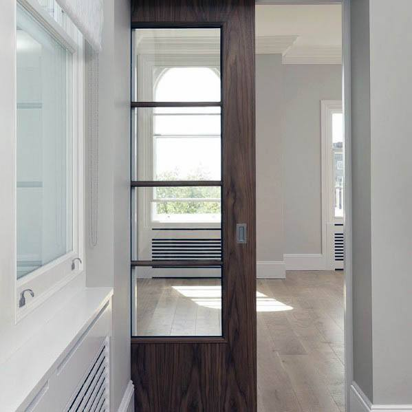 Home Ideas Pocket Door Modern Wood