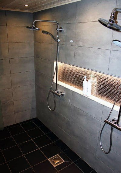 Home Ideas Shower Niche Shelf Lighting