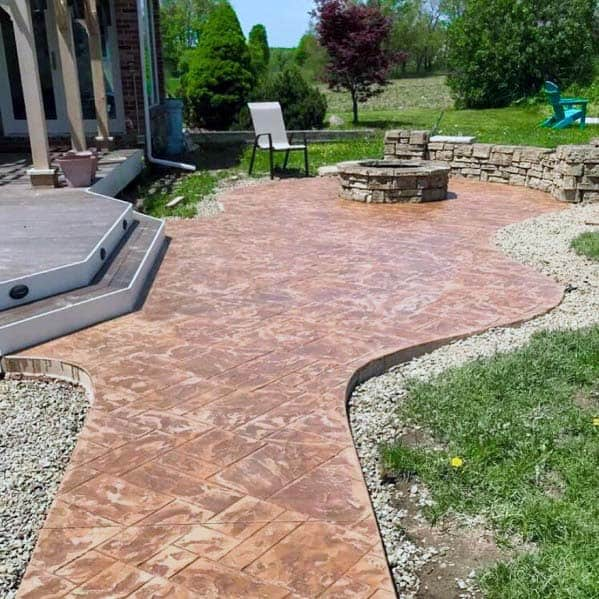 Home Ideas Stamped Concrete Patio