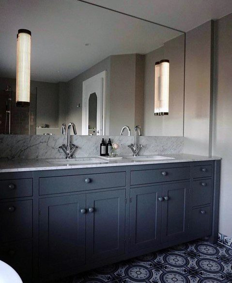 Home Interior Designs Bathroom Lighting Wall Sconce Built Into Mirror