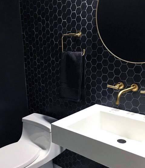 Home Interior Designs Black Bathroom