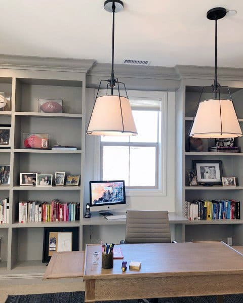 Home Interior Designs Built In Bookcase For Office