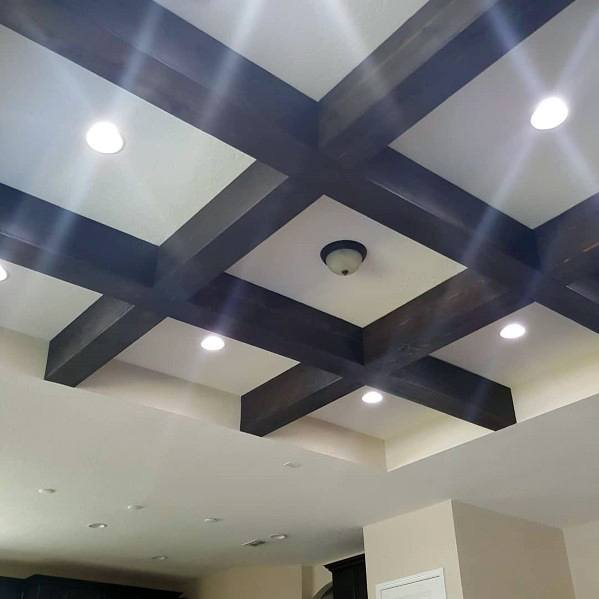 Home Interior Designs Coffered Ceiling