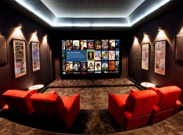Home Interior Designs Finished Basement Home Theater