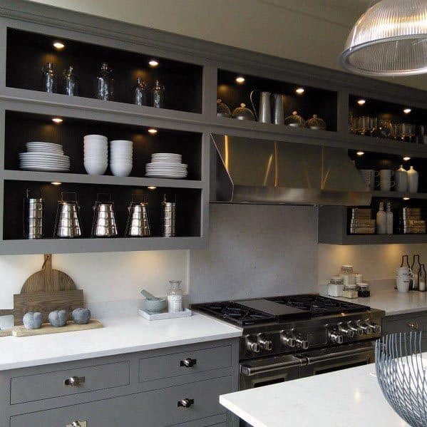 Home Interior Designs Grey Kitchen