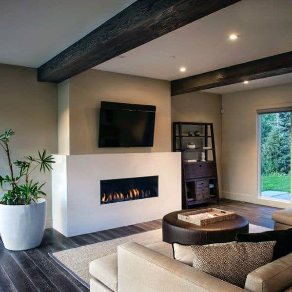 Home Interior Designs Linear Fireplace