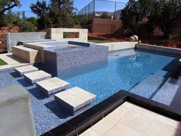 Home Interior Designs Pool Tile