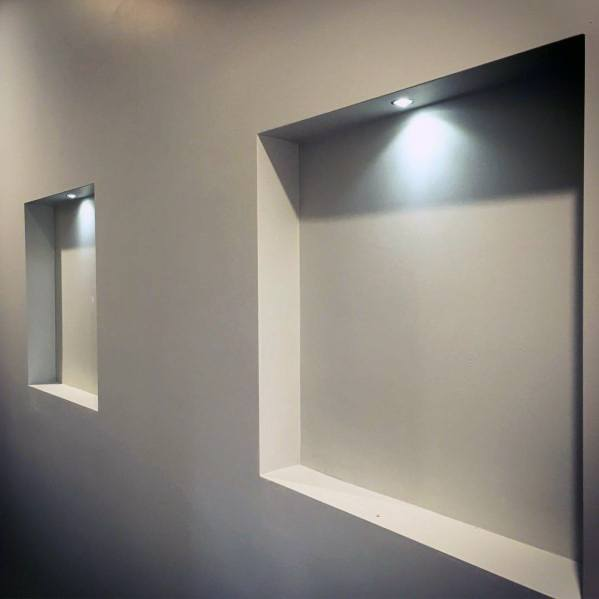 Home Interior Designs Recessed Wall Niche With Built In Led Light