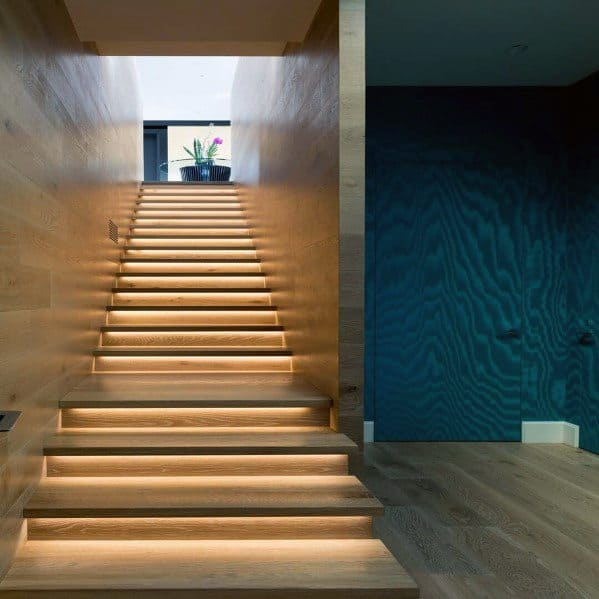 Home Interior Designs Staircase Lighting Under Steps