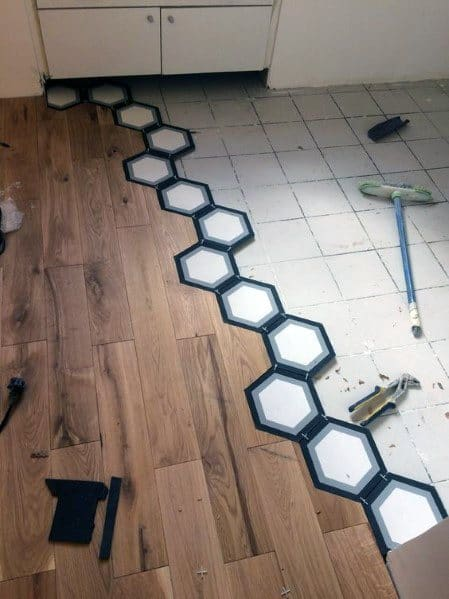 Home Interior Designs Tile To Wood Floor Transition