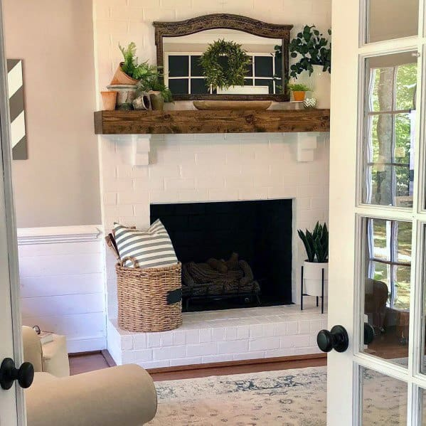 Home Interior Designs White Painted Fireplaces