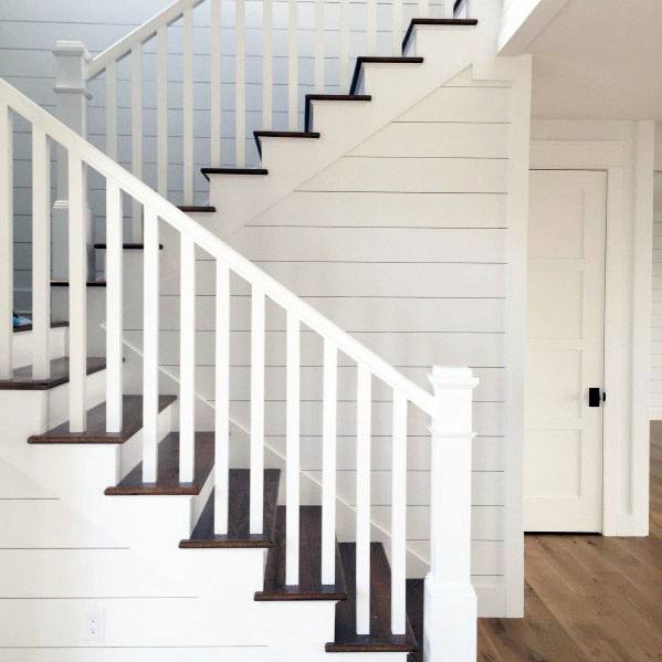 Home Interior Designs White Wood Stair Railing