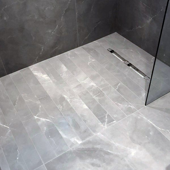 Home Interior Grey Bathroom Tile