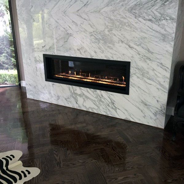 Home Interior Linear Fireplace