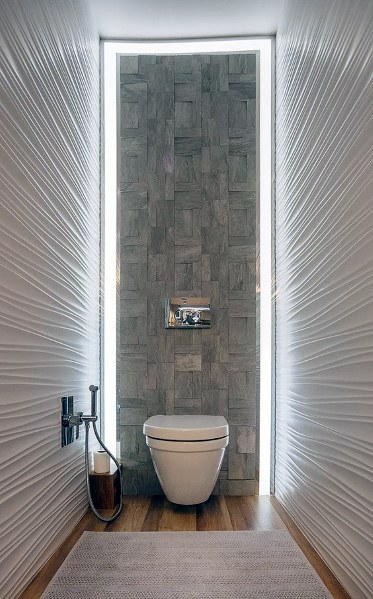 Home Interior Textured Wall Bathroom