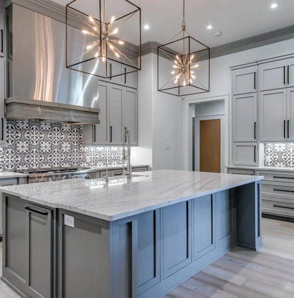 Home Kitchen Grey Color Ideas