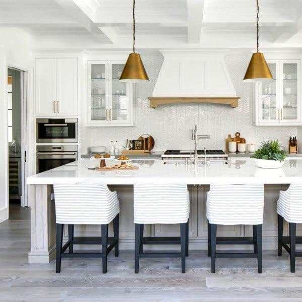 Top 60 Best White Kitchen Ideas - Clean Interior Designs