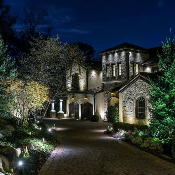 Home Landscape Lighting Ideas Driveway And Front Yard