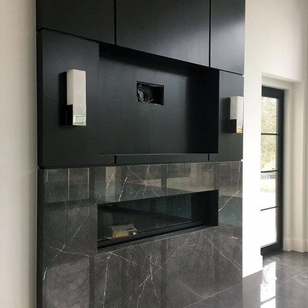 Home Linear Fireplace Ideas