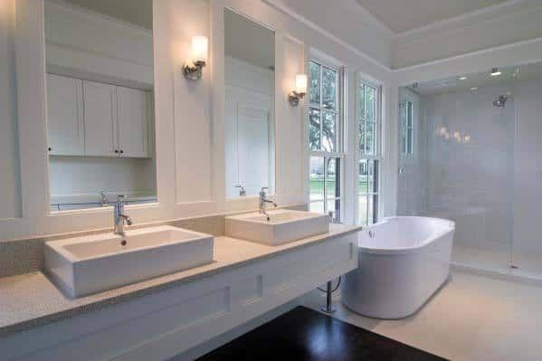 Home Master Bath Ideas White Walls
