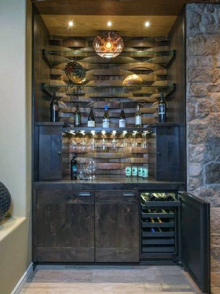 Mini Bar Ideas Cool Beverage Storage