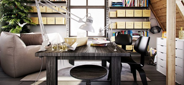 Home Office Design Decorating Ideas: Home Office Ideas For Men