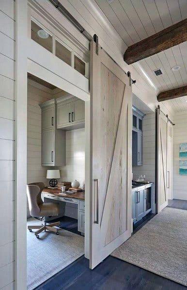 Home Office Interior Designs Barn Doors