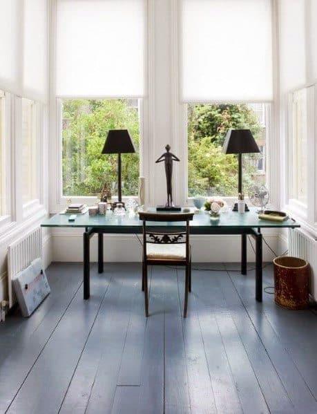 Home Office Painted Floor Design Ideas